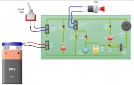 Sensor Alarm using thyristor- Basic electronic project