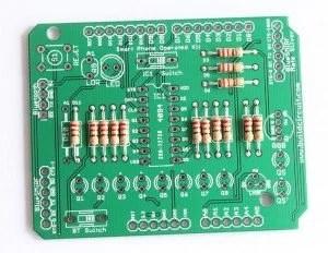 Step 1- solder all the 220R resistors