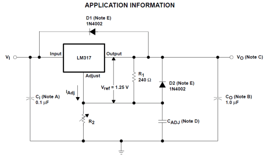 LM317 application information
