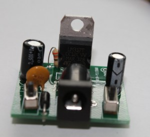 Step 10 solder LM7805 and dC barrel-2