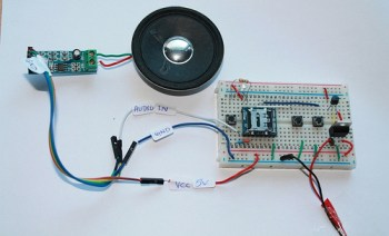 MP3 mode circuit with Audio Amplifier-WTV020SD-16P tutorial
