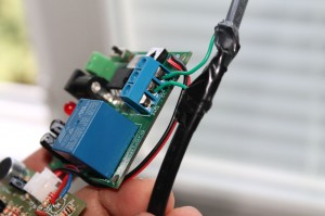 Step 7- insert the wires into the terminal