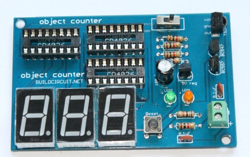 Step 13- Solder 3pcs common cathode seven segment display