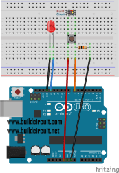 Arduino Project 7- Button tactile switch and LED