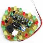 DIY Kit 3- Heart Shaped LED flasher DIY kit with LDR