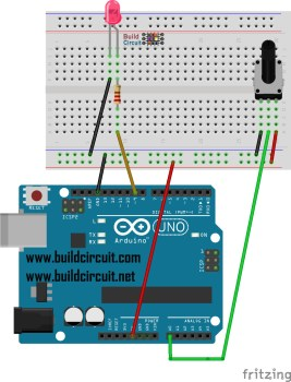 Arduino Project 3- Arduino Potentiometer and LED