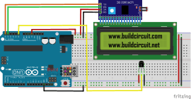 Temperature sensor using Arduino, LM35 and I2C LCD