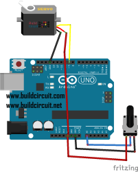 Arduino Project 6- Servo control with a potentiometer