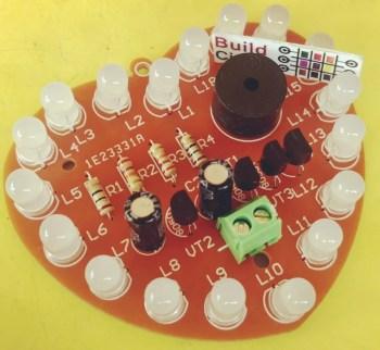 DIY KIT 7- Heart Shaped Bicolor Multiple LEDs DIY Electronic Kit