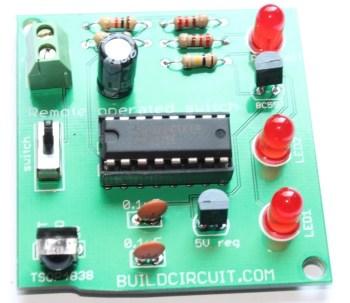 DIY KIT 15- Remote Tester electronic DIY kit with 2 LEDs