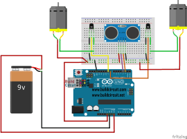 Arduino project 57- Obstacle avoiding robot using Arduino