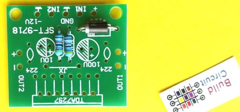 Step 1 Solder 47K resistor and diode