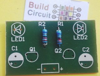 Step 1 solder R1 and R2
