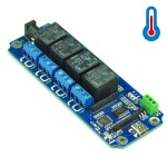 TOSR04-T - 4 Channel USB/Wireless 5V Relay Module (Temperature Sensor Support )