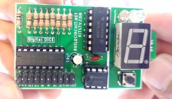 DIY KIT 68- A digital dice using 74LS47, 74LS90 and seven segment display