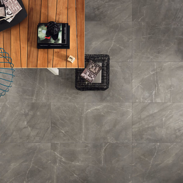 gray porcelain tile is the perfect