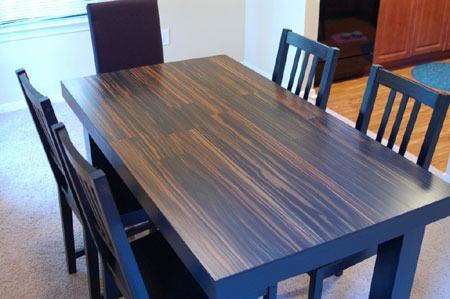 laminate flooring table top diy