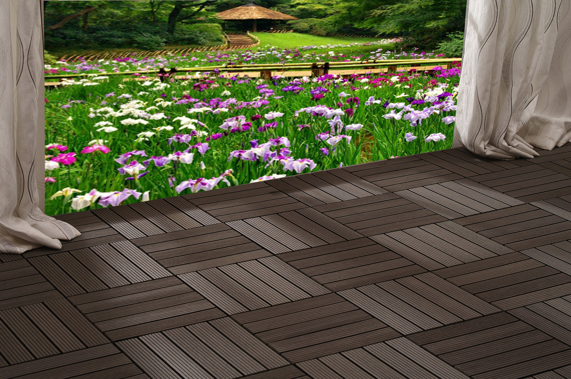 to install wood or composite deck tiles