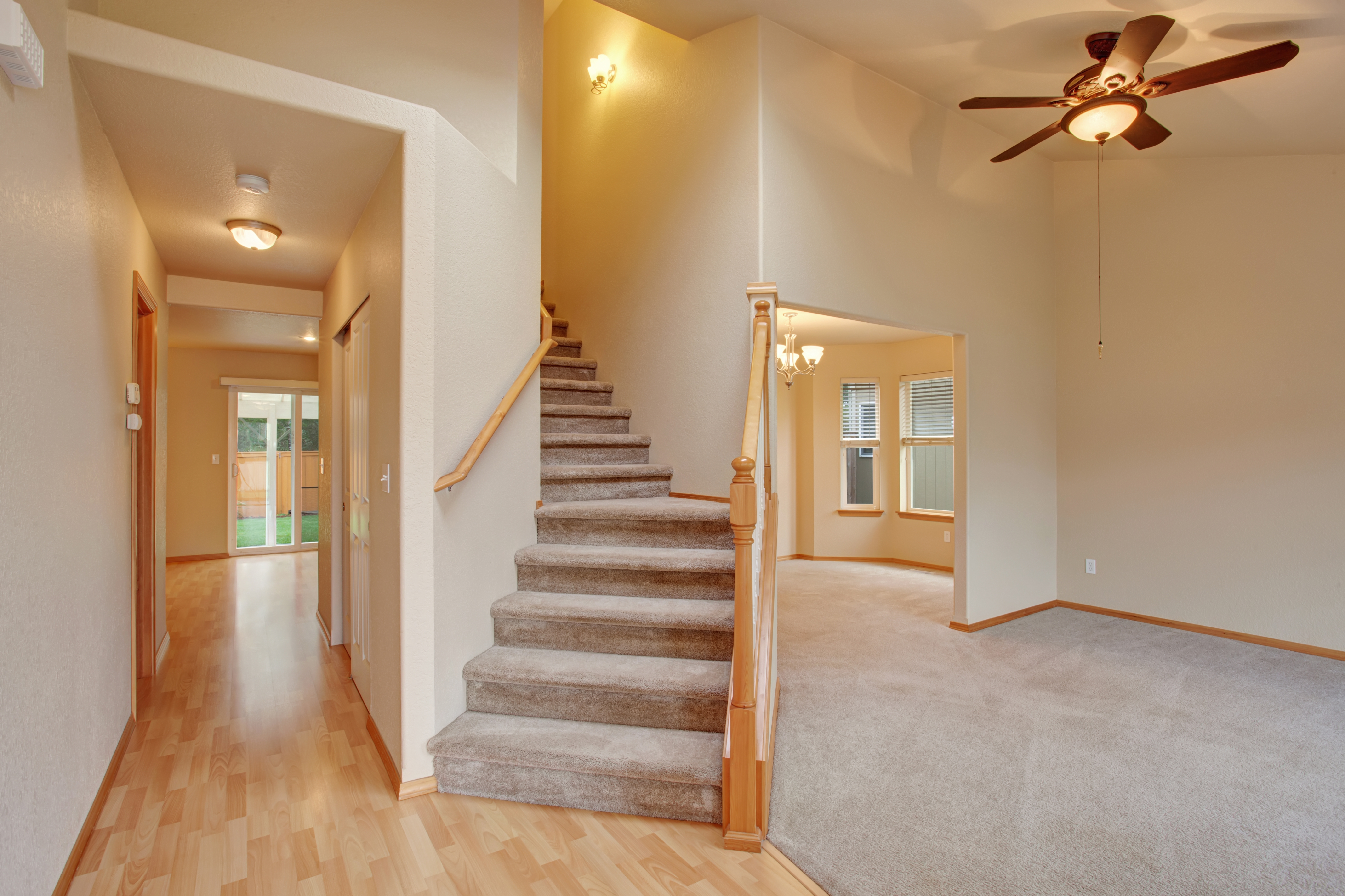 How To Lay Carpet On Stairs And The Landing Builddirectlearning | Loose Carpet On Stairs | Runner | Fixing | Stair Treads | Stair Nosing | Laminate Flooring