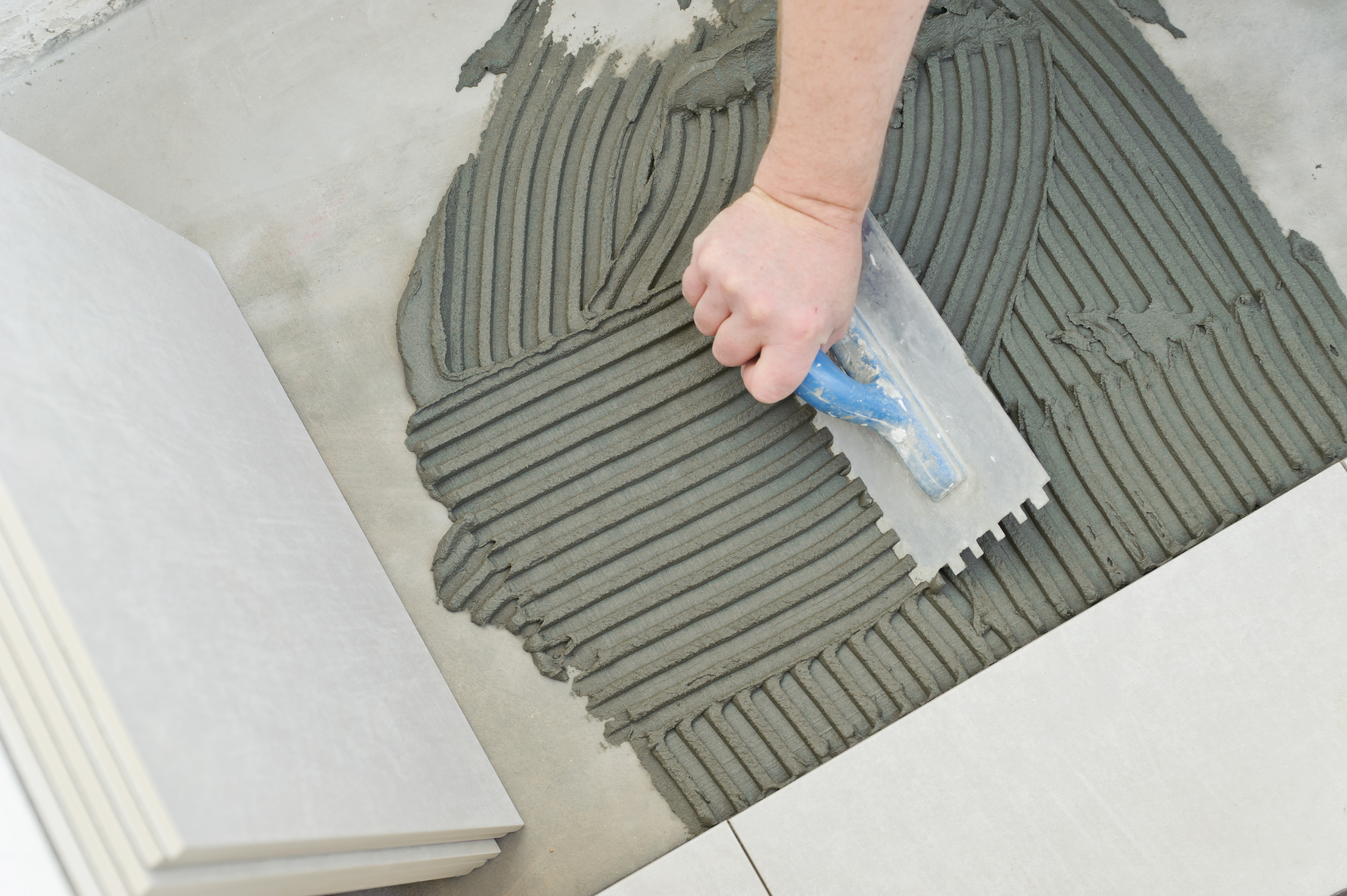 how to prepare concrete for a tile