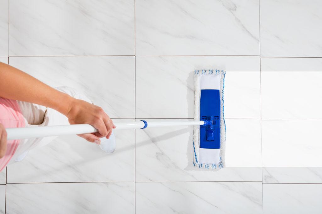 maintain natural tile flooring