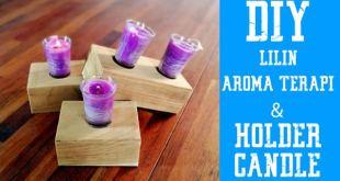 Video Membuat Lilin Aromaterapi Beserta Holder Lilin dari Kayu Unik