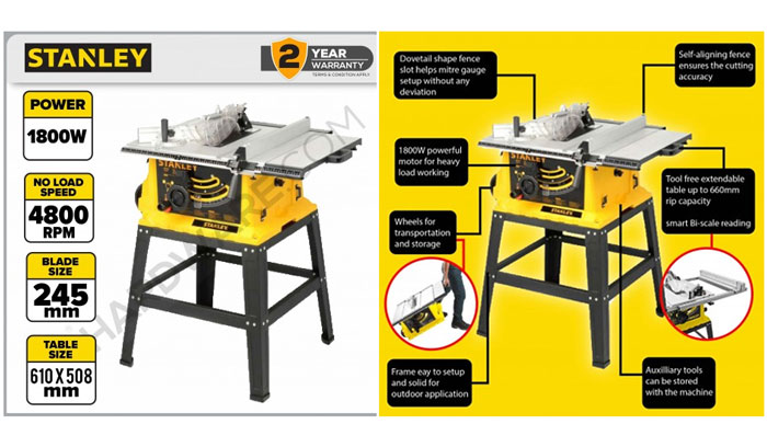 table saw stanley sst1801