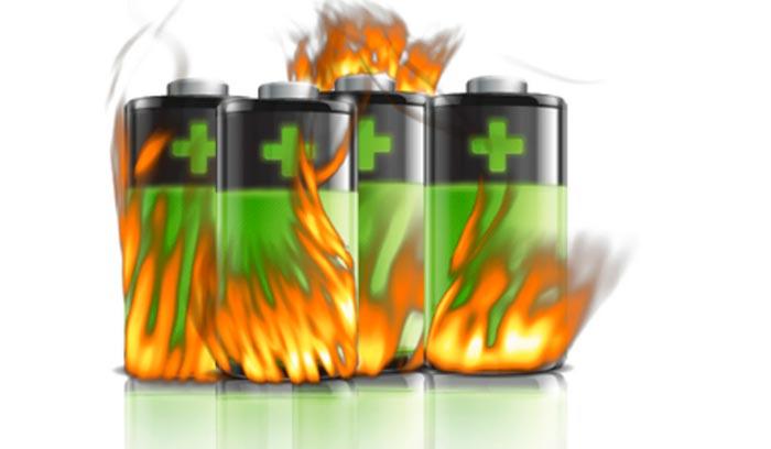 kerusakan baterai lithium