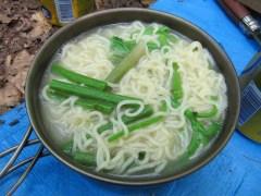山菜トンコツラーメン