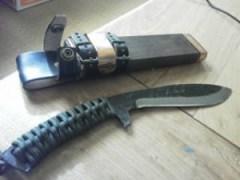 関伝古式和鉄製錬 飛切り匠多重鋼紐巻・両刃