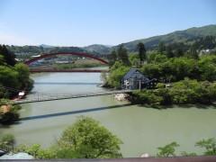 菊花堂から望む只見川