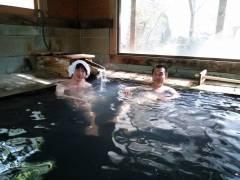 奥会津西山温泉 中の湯の湯舟