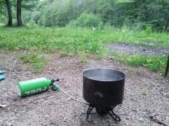オプティマスNOVAでお湯を沸かす