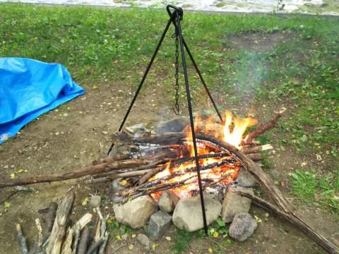 直火可能な七入オートキャンプ場