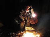 キムチ鍋を作る