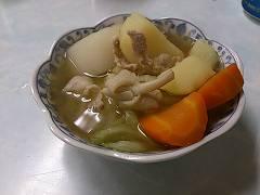 オシロイシメジの入った鍋