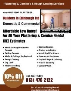 Plasterers In Edinburgh - Builders In Edinburgh