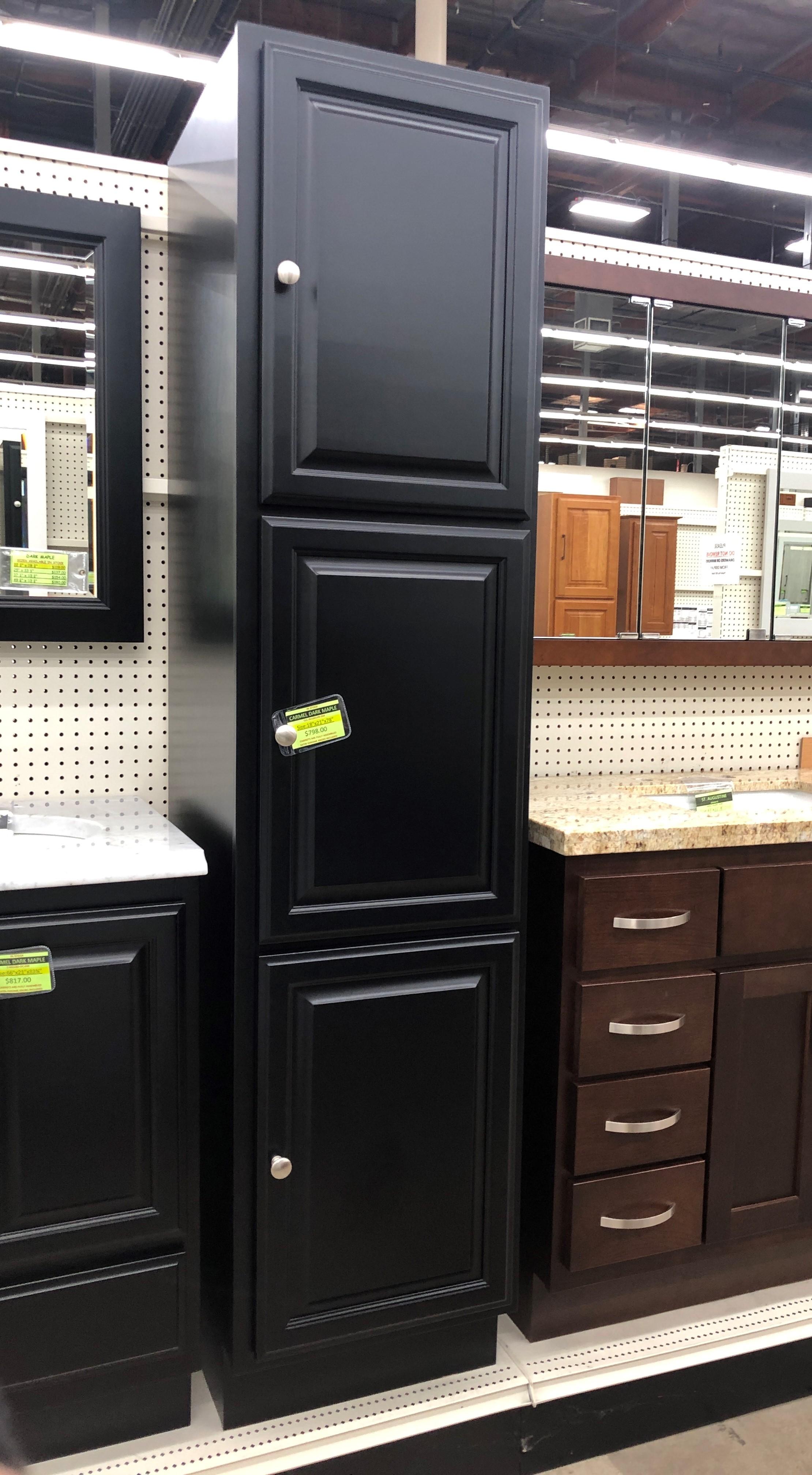 Carmel Dark Maple Linen Cabinet - Builders Surplus ... on Maple Cabinets  id=56438