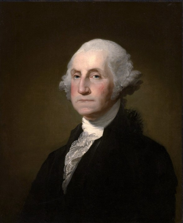 Image of George Washington - portrait by Gilbert Stuart