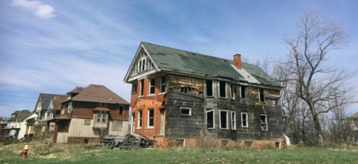 Deteriorating house in Detroit
