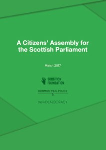 Scottish Parliament Citizens Assembly paper