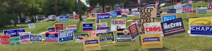Informed voters? A mass of political yard signs