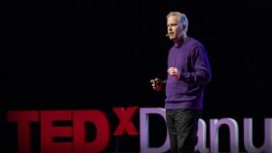 Brett Hennig giving a TedX talk