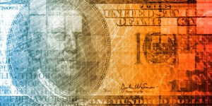 Abstract image of a $100 bill to illustrate wealth inequality