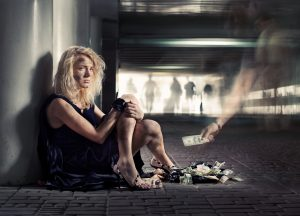 homeless pregnant woman in crisis