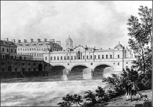 Pulteney Bridge by Thomas Malton 1785 (Victoria Art Gallery, Bath)