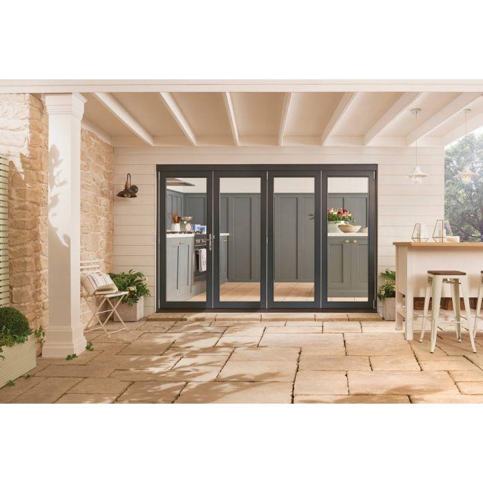 jeld wen grey bedgebury folding patio doorset 2094mm x 1794mm