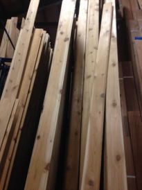 1x6 western red cedar tongue and groove lumber instock
