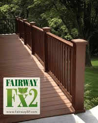 fx2 fairway composite deck railing walnut instock sale