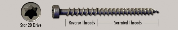 Grabber Barracuda Composite Deck Decking Screw Fastener In-Stock Discount Sale Lancaster PA